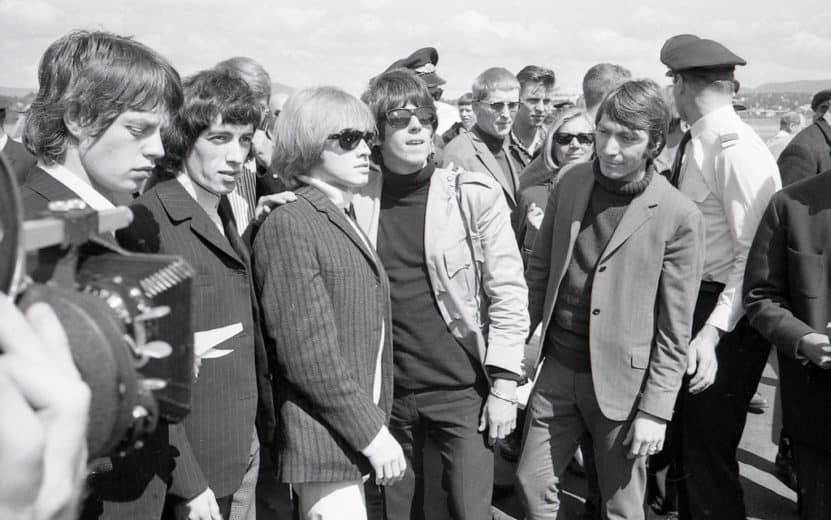 The Rolling Stones ankommer Fornebu sankthans 1965